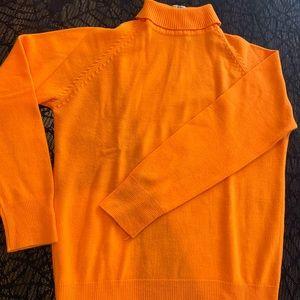 Vintage Neon Orange Turtleneck